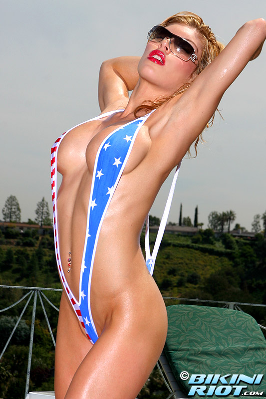 flag bikini girl.. On this movie, she takes pussy and anal cream pie! It is scorched anal fuck ...