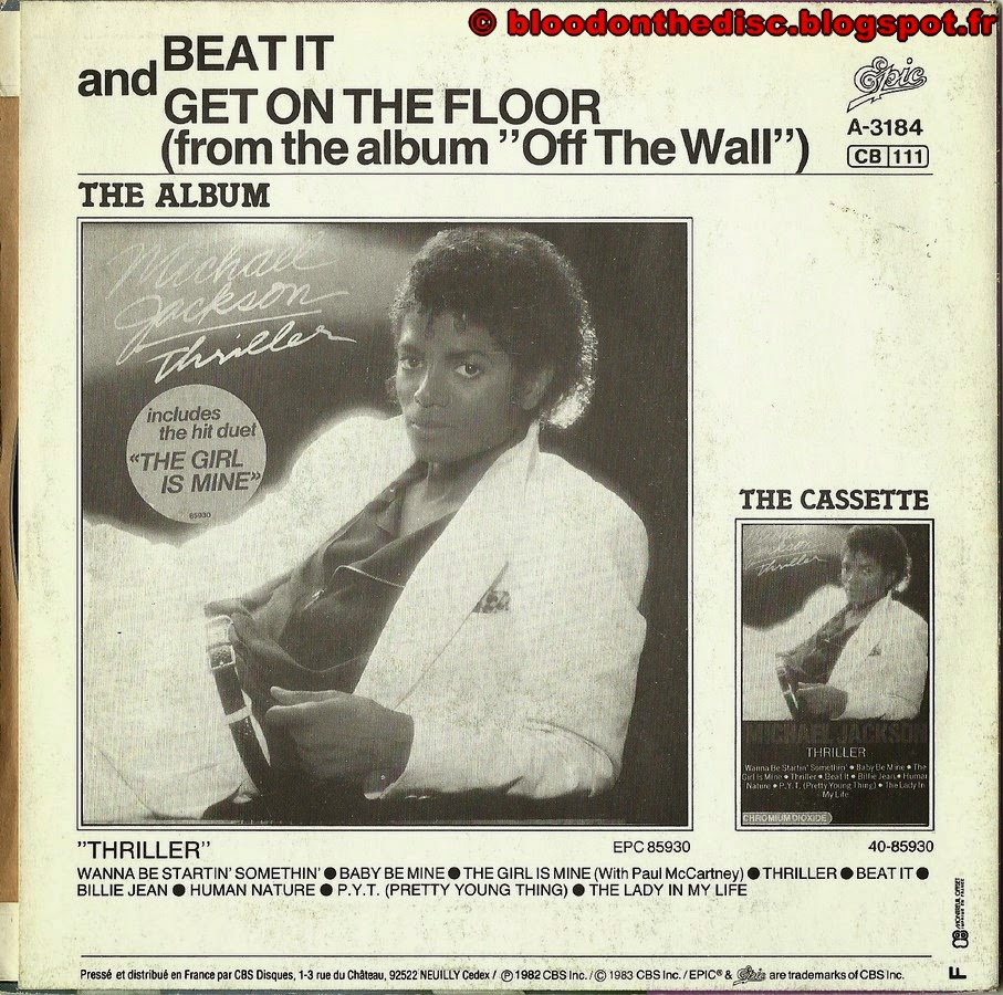 Beat It 45T Back Cover