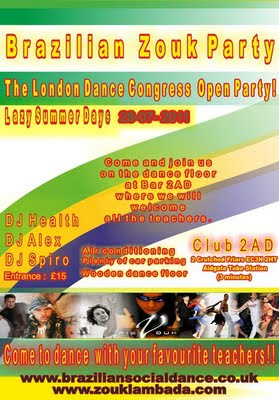 zouk lambada, zouklambada.com, braziliansocialdance.co.uk, London dance congress, Brazilian Zouk, facebook, nightclubbing london, gilson damasco, dario dias, kleber saude, adriano de sousa, city of london