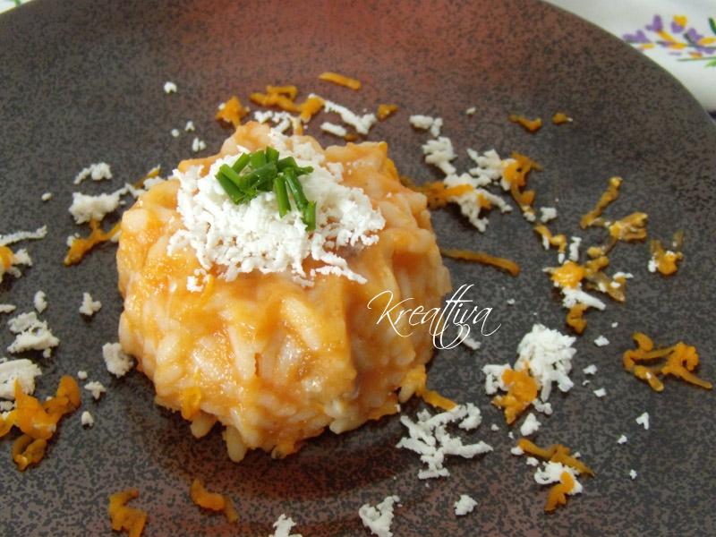 risotto con zucca e pecorino