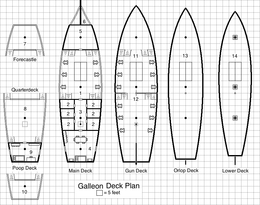 pirate ship floor plans ship free download home plans