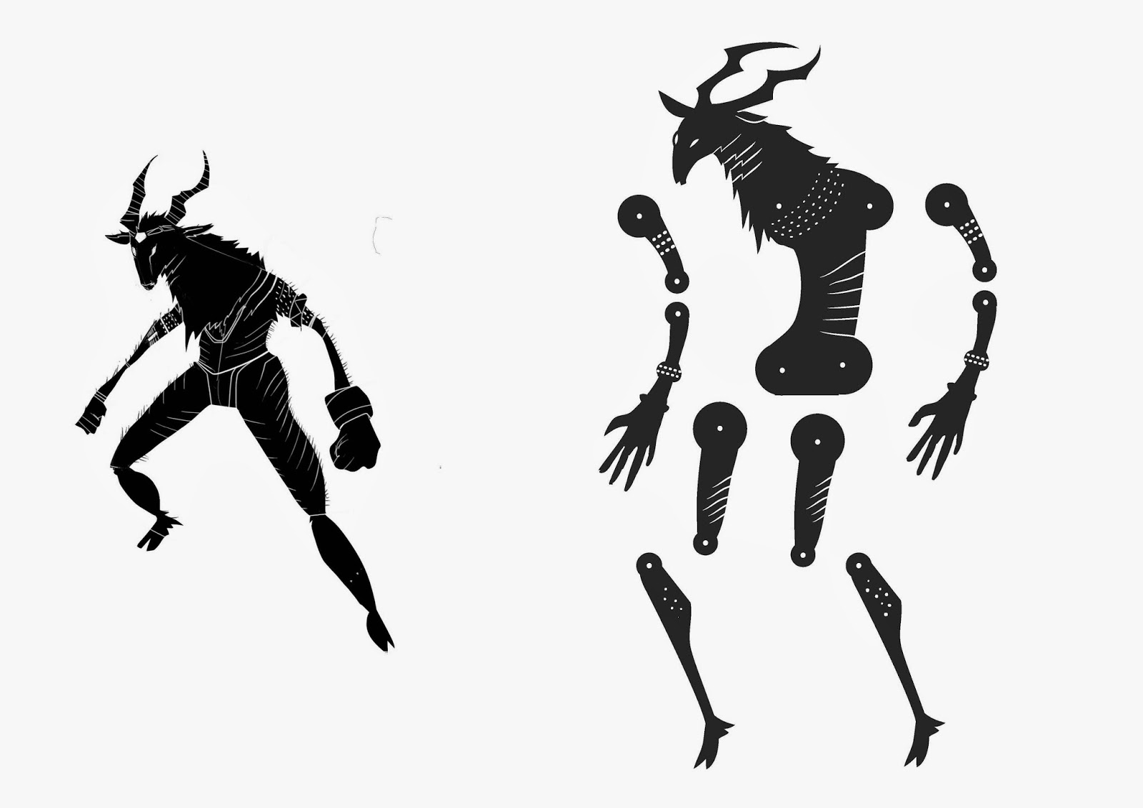The Heroes Project: Shadow Puppet designs