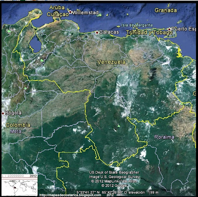 Mapa de VENEZUELA, Google Earth