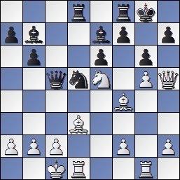 Posición de la partida de ajedrez Monereo - Amat del Campeonato de Ajedrez de Cataluña, 1949