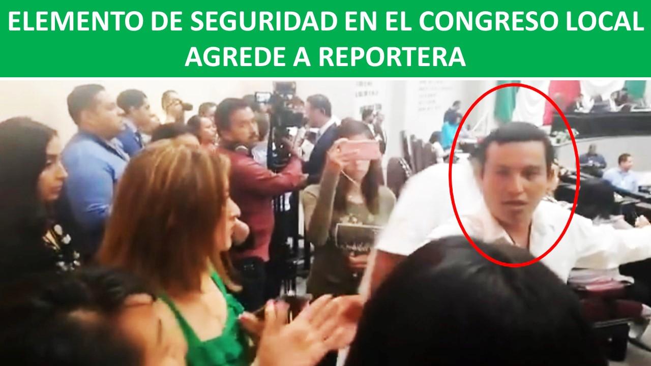 AGREDE A REPORTERA