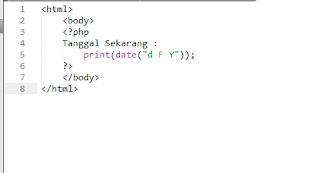Tanggal PHP
