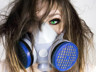 Girl With Green Eyes Gas Mask Aftermath HD Wallpaper