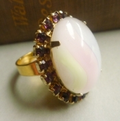 purple moonstone cocktail ring