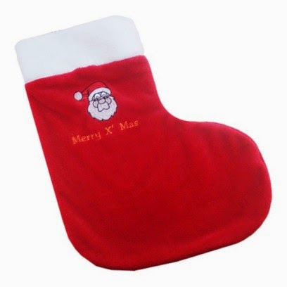 children's socks embroidered christmas motif