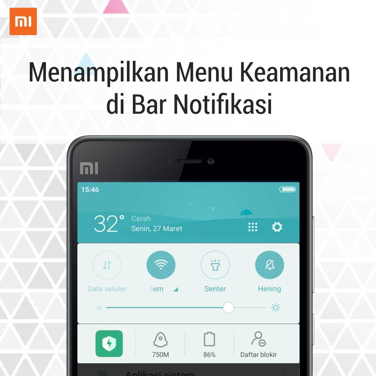 Cara Menampilkan Menu Keamanan Di Bar Notifikasi Hp Xiaomi Bali