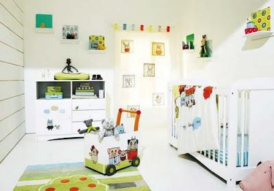 dormitorio bebé muebles blancos