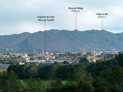 Panoràmica vers el nord-est des del Serrat de la Miraculosa