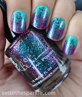 Green & Purple Ombre Nails