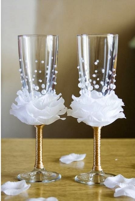 Diy Decorated Wine Glasses Diy Flower Bead Decorated Wine