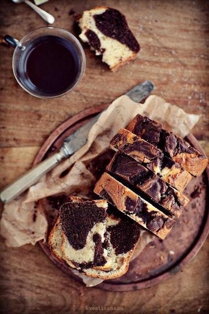 torta bicolore con cioccolato / double color cake with chocolate