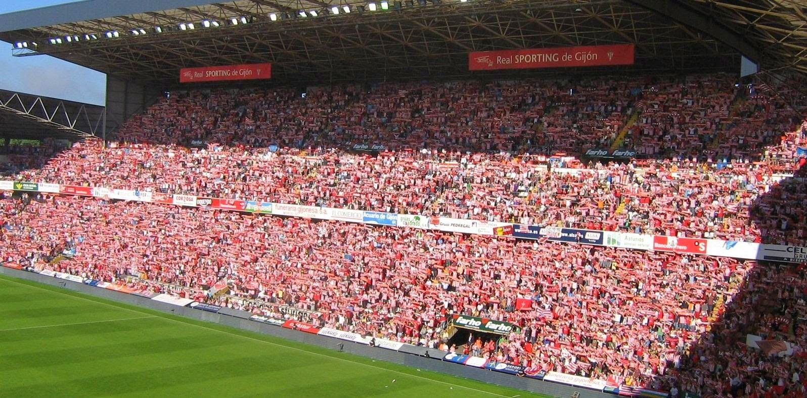 Aficiones de f tbol afici n del real sporting de gij n - Estadio del sporting de gijon ...