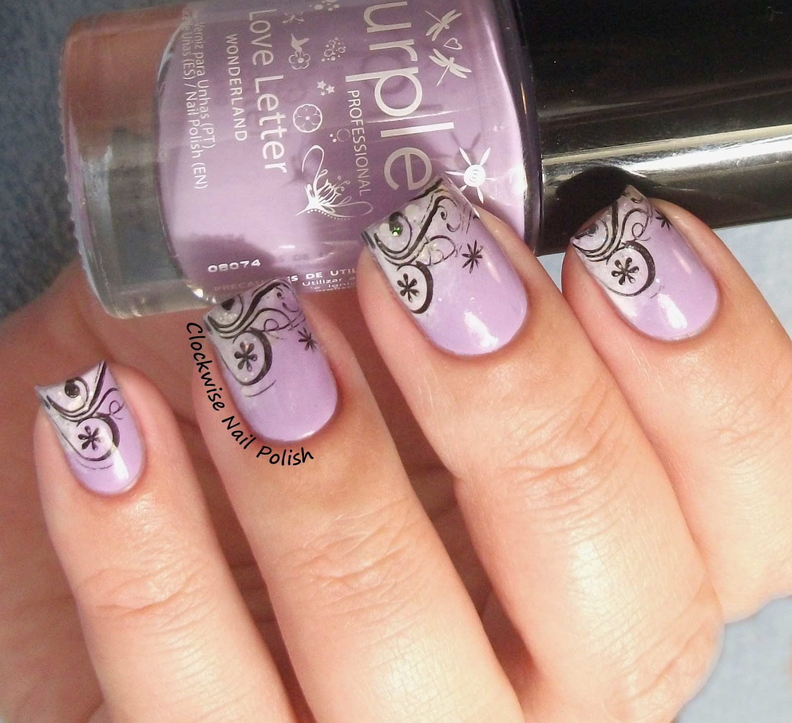 The clockwise nail polish purple professional 103 love letter the clockwise nail polish purple professional 103 love letter spanish french nail art prinsesfo Gallery