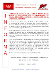 LA SECCIÓN SINDICAL DE CTA EN EL SERVICIO DE AYUDA A DOMICILIO DEL AYUNTAMIENTO DE JEREZ, COMUJESA,