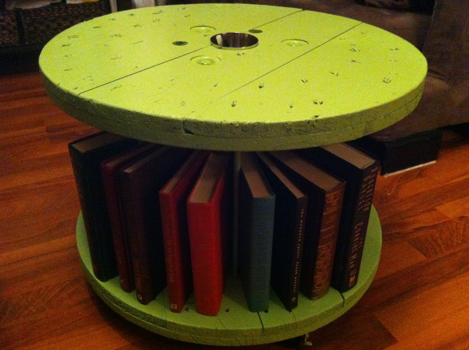 My DIY projects: Wire spool storage solution