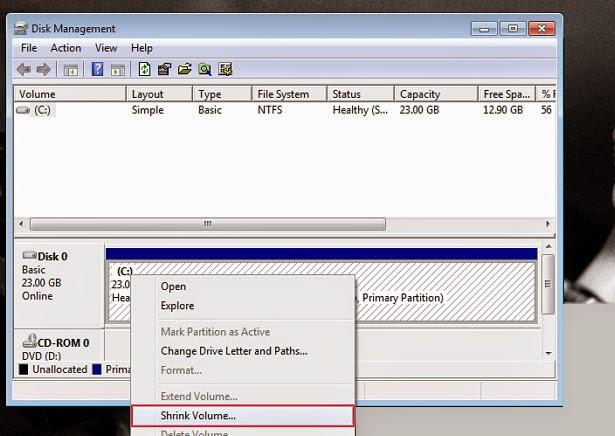Cara Membuat Partisi di Windows 7