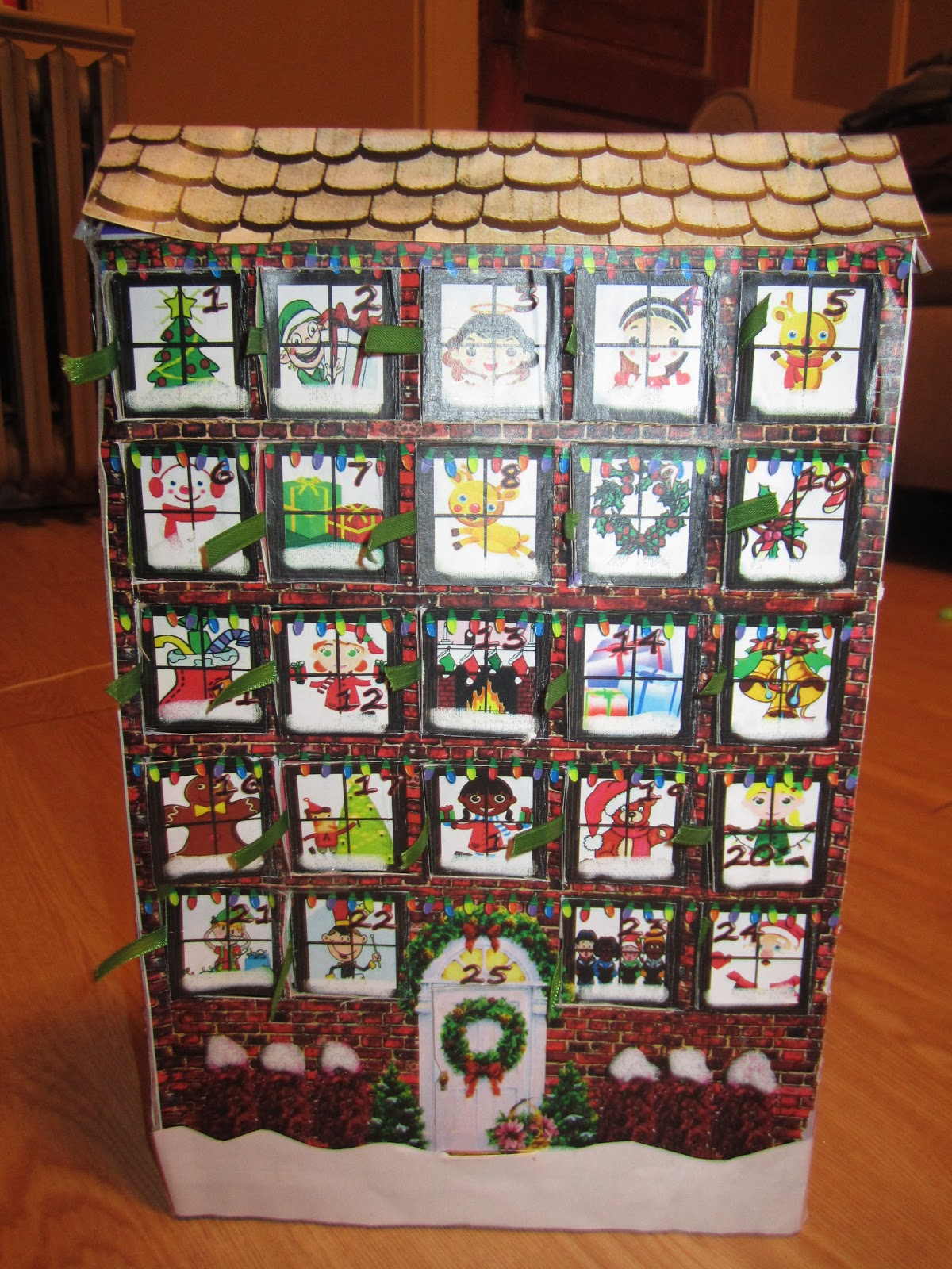 Frugal Nj Frugal Advent Calendar From A Cereal Box