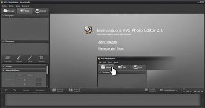 صورة من داخل برنامج AVS Photo Editor