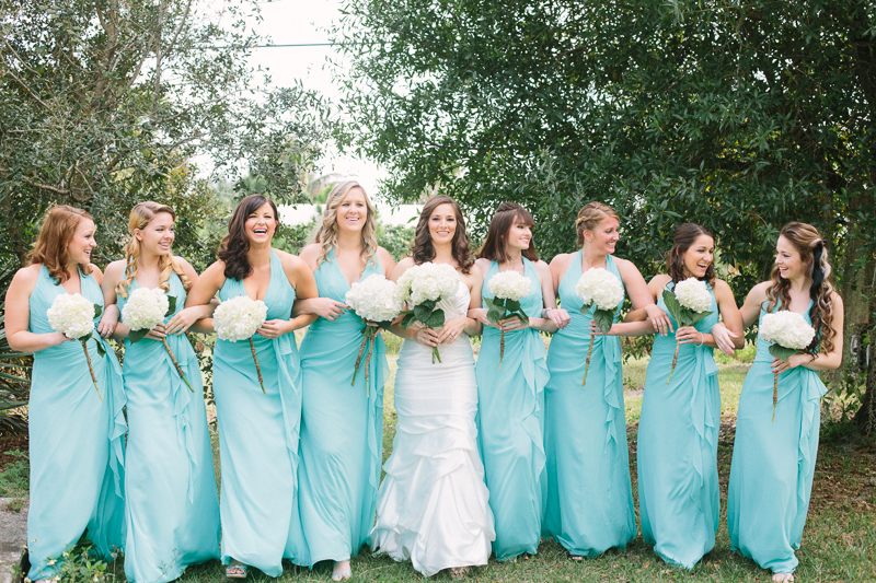 bride and bridesmaids palm beach florida wedding photo