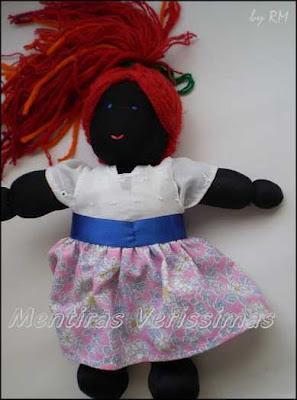 A boneca de pano sapeca Maria Rita