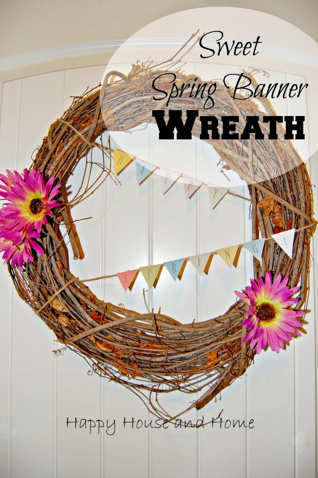 spring wreath, wreath, spring printable, free printable