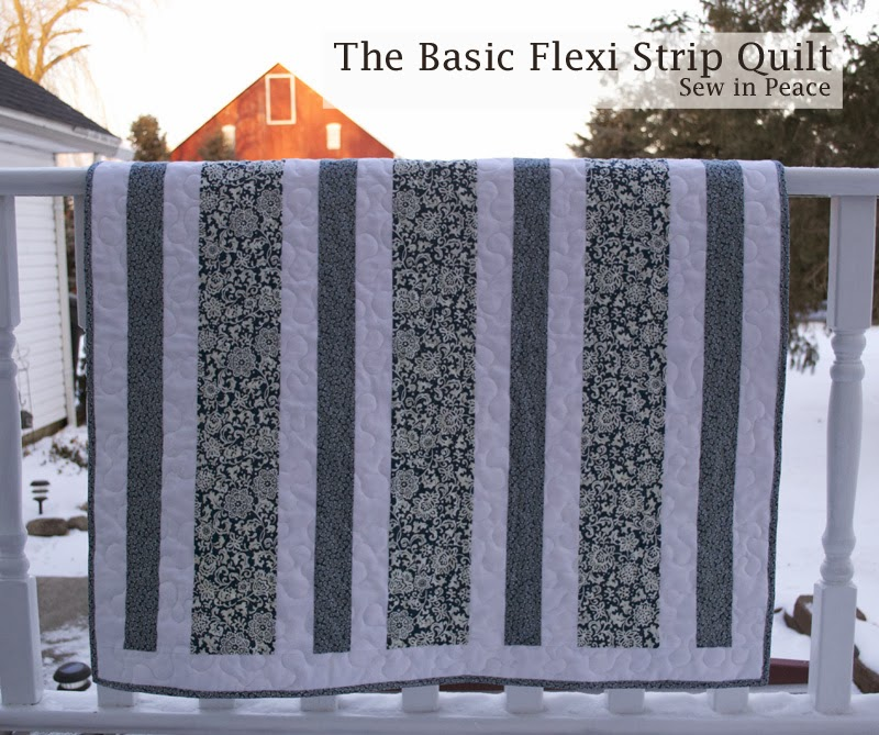 Sew in Peace Flexi Strip Baby Quilt Tutorial New Quilt Patterns Using Panels