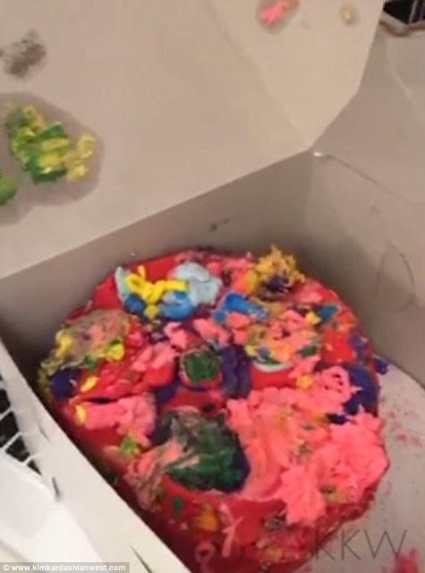 cake North West made for mum Kim Kardashian