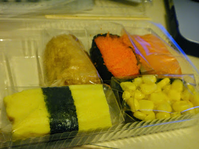 Mix and match sushi shop at Taipei Train Station Taiwan