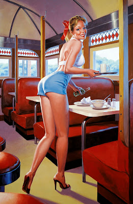 Greg Hildebrandt pin up girl
