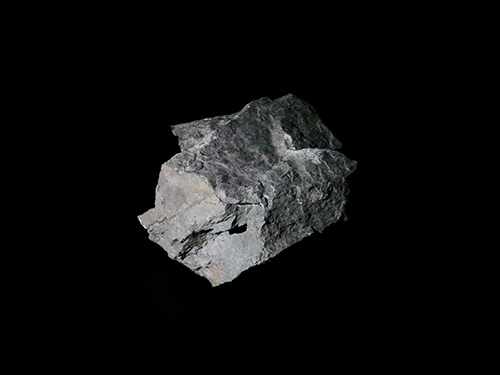 Rock with white projected light #3