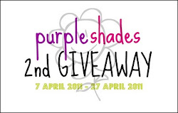 Purple Shades 2nd Giveaway