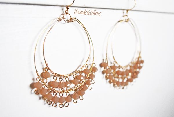 Beads orecchini cerchio