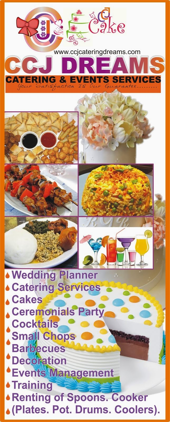 CCJ DREAM CATERING AND EVENTS PLANNER