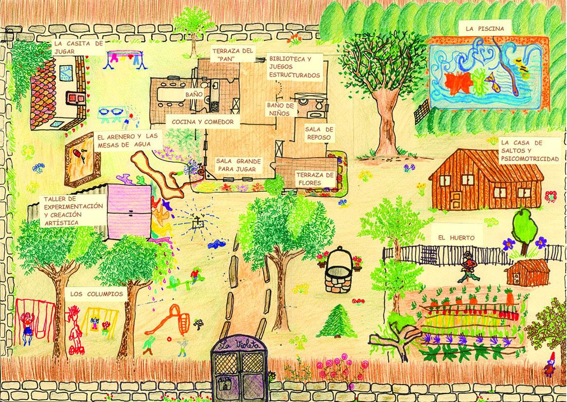 El rinc n de la paz modelo de jard n infantil for Plano escuela infantil