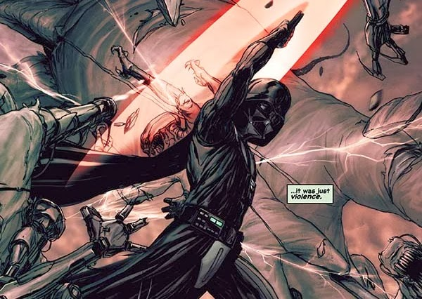 "Viñeta del cómic ""Star Wars: Darth Vader y la Prisión Fantasma"""