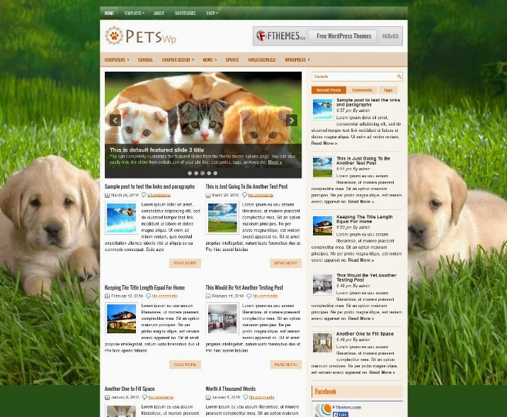PetsWp - Free WordPress Theme