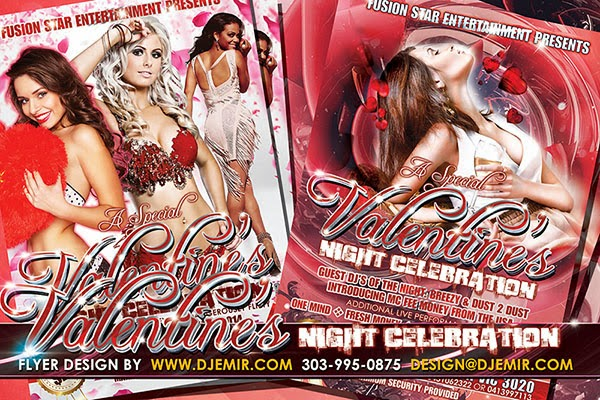 Valentine's Night Celebration Flyer