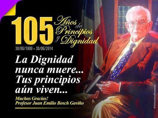 Hoy se conmemora 105 aniversario del natalicio Juan Bosch
