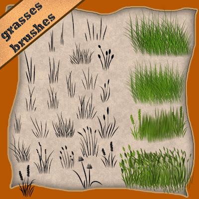 pinceles de hierba gratis