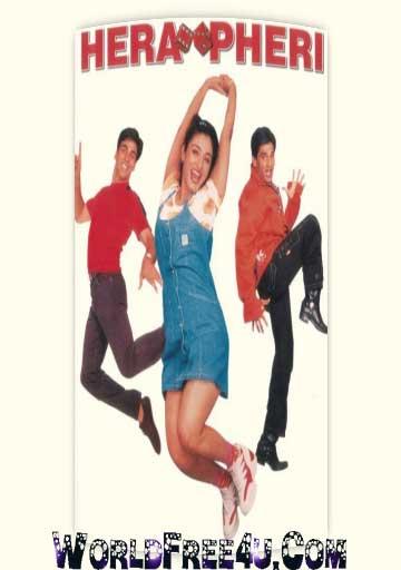 Poster Of Hindi Movie Hera Pheri (2000) Free Download Full New Hindi Movie Watch Online At worldfree4u.com