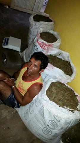A polícia militar do Piauí fez a prisão de uma pessoa em uma propriedade