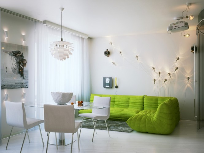 Dekorasi Moden Apartment Kecil Petersburg Oleh Artmixer