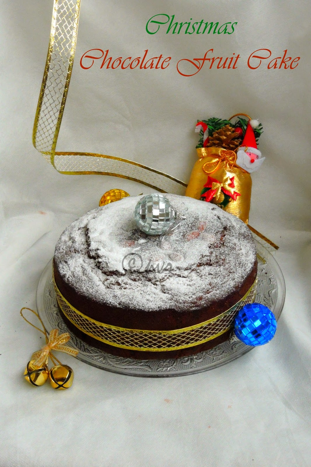 Rich Christmas Chocolate fruit cake, Christmas Chocolate fruit cake