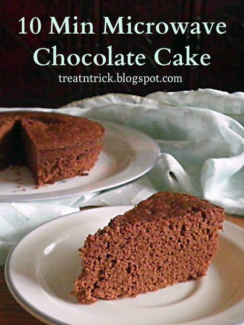 10 Min MW chocolate Cake Recipe @ treatntrick.blogspot.com