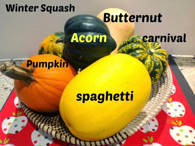 basket of winter squash