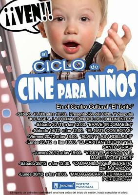 Cartel del Ciclo de Cine Para Niños.